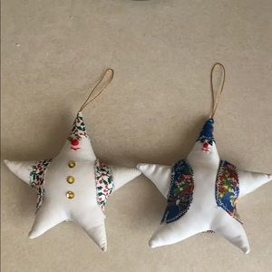 Pair of snowmen decorations